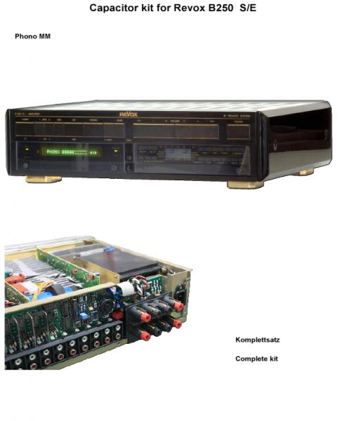 Kompletter Kondensatorensatz (mit Ladekondensatoren) für Revox B250 S/E Phono MM