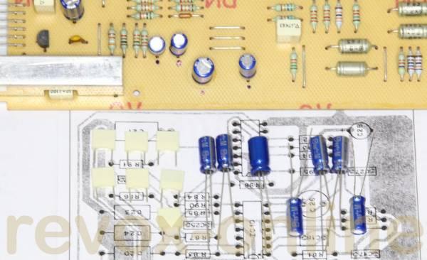 Kondensatorsatz Servo 2 PCB 1.769.330 Studer Revox B225 capazitor kit