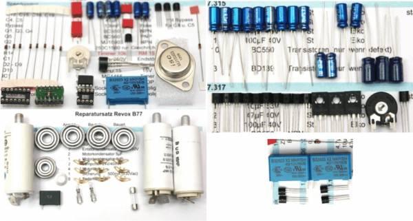 Reparatursatz Revox B77 Laufwerk und Netzteil