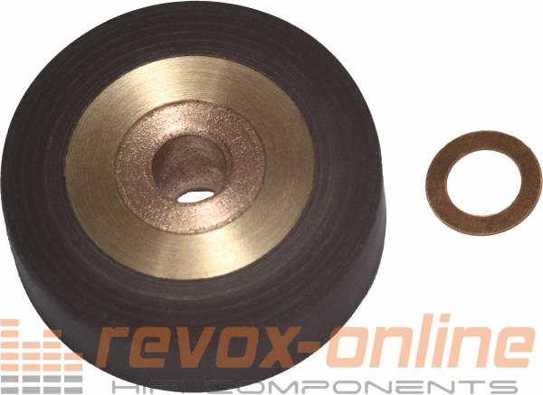 Andruckrolle Revox B77 mit Kupferscheibe