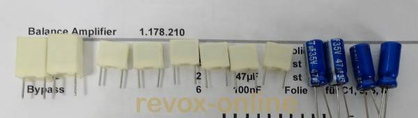 Kondensatorensatz Revox B750 Frontpanel