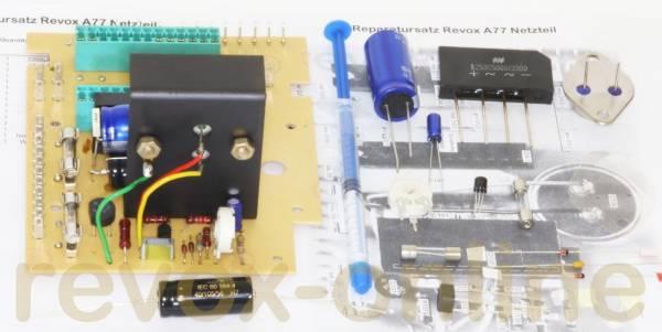 Reparatursatz Netzteil mit Leistungstransistor für Revox A77 (1.077.540 )