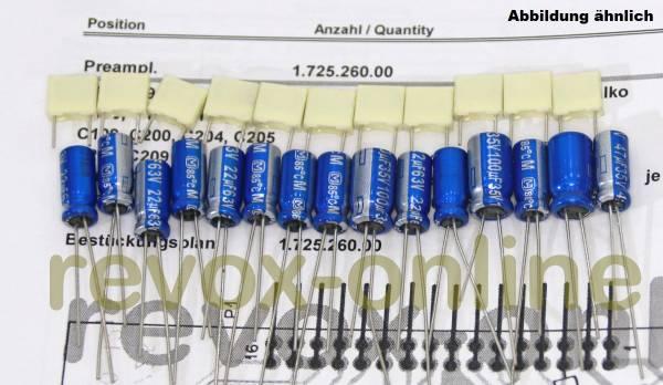 Kondensatorensatz Revox B250 Vorverstärker