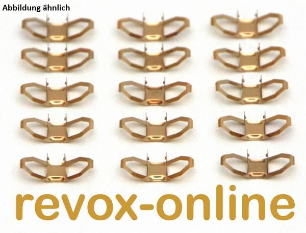 Kontaktfedern 15 Stück für Revox A50 und A78 Drehschalter