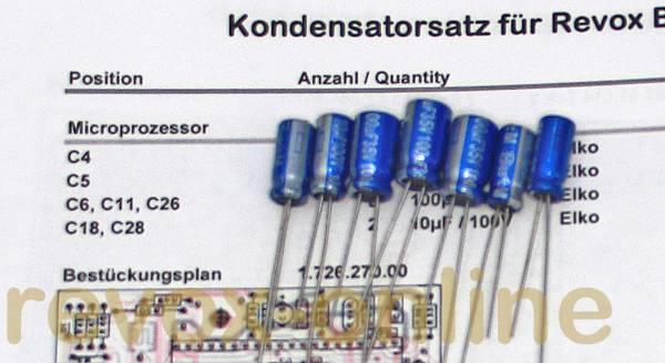 Kondensatorensatz Revox B260 Microprozessor