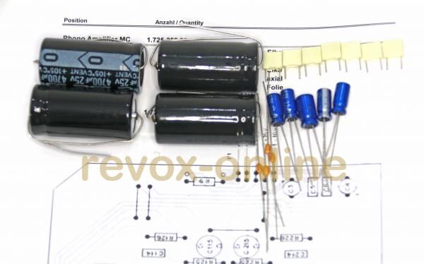 Kondensatorensatz Revox B250 Phono Amplifier MC