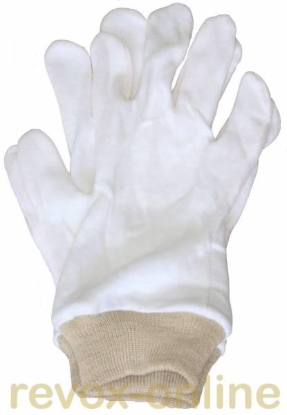 Baumwollhandschuhe für Arbeiten an der Bandführung und an der Bremsanlage der Bandmaschinen unerläss