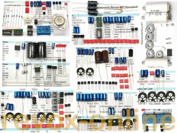 kompletter Reparatursatz Revox B77