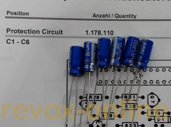 Kondensatorensatz Protection Circuit für Revox B750