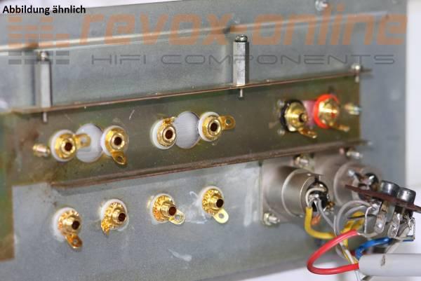 Einbau Lautsprecheranschlüsse, Polklemmen, Bananas für Revox A740, B740