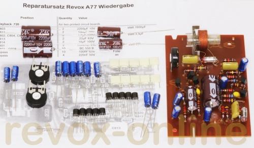 Reparatursatz Komplettsatz für alle Revox B77